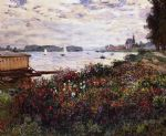 riverbank at argenteuil by claude monet paintings