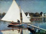 sailing at argenteuil by claude monet paintings