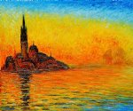 san giorgio maggiore by twilight by claude monet paintings