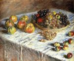 still life apples and grapes by claude monet paintings