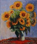 claude monet sunflowers paintings