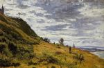taking a walk on the cliffs of sainte adresse by claude monet paintings