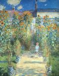 the artist garden at vetheuil by claude monet paintings