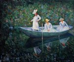 the boat at giverny by claude monet painting