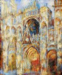 the cathedral in rouen the portal harmony in blue by claude monet paintings