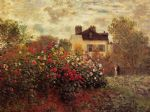the garden at argenteuil by claude monet paintings