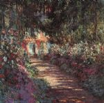 the garden in flower by claude monet paintings