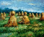 claude monet the haysheaves painting