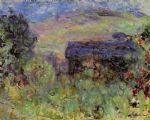 rose famous paintings - the house seen through the roses by claude monet