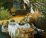 claude monet the luncheon ii painting