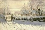 the magpie by claude monet painting