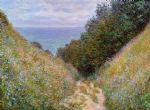 the path at la cavee pourville by claude monet paintings