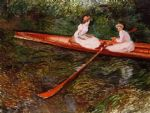 the pink skiff by claude monet paintings