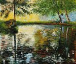 the pond at montgeron 1876 by claude monet paintings
