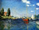 the red boats argenteuil by claude monet painting