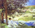 the river bennecourt by claude monet paintings