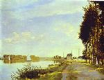 the riverside path at argenteuil by claude monet paintings
