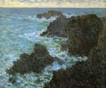the rocks of belle lle by claude monet paintings