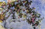 rose famous paintings - the rose bush by claude monet