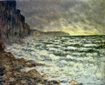 the sea at fecamp by claude monet paintings