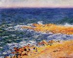 the sea in antibes by claude monet paintings