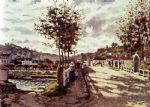 the seine at bougival by claude monet paintings