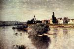 the seine at lavacourt by claude monet paintings