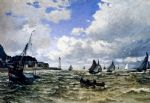 the seine estuary at honfleur by claude monet paintings