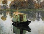 the studio boat by claude monet paintings