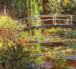 the water lily pond by claude monet painting