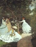 the women in the garden by claude monet paintings