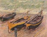 three fishing boats by claude monet paintings