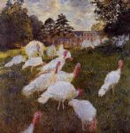 turkeys by claude monet paintings