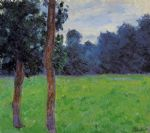 claude monet two trees in a meadow painting 85856