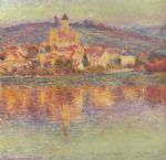 vetheuil at sunset by claude monet paintings