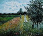 walking near argenteuil by claude monet paintings