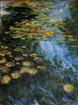 water lilies yellow and green by claude monet paintings