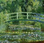 water lily pond by claude monet painting