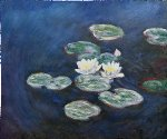 waterlilies evening by claude monet paintings