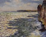 waves and rocks at pourville by claude monet paintings