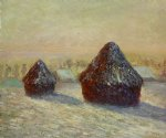 wheat snow morning by claude monet paintings