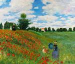 wild poppies near argenteuil by claude monet paintings