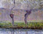 claude monet willows in spring paintings