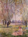 woman sitting under the willows by claude monet paintings