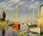 yachts at argenteuil by claude monet painting