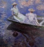 claude monet young girls in a row boat print