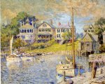 colin campbell cooper art - at edgartown martha s vinyard by colin campbell cooper
