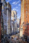 street original paintings - broad street canyon new york by colin campbell cooper