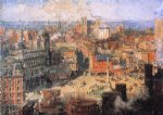 colin campbell cooper art - columbus circle by colin campbell cooper