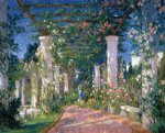 colin campbell cooper art - pergola at the hotel samarkand santa barbara by colin campbell cooper